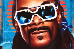 Snoop Dogg Digital Portrait Art 4k Wallpaper