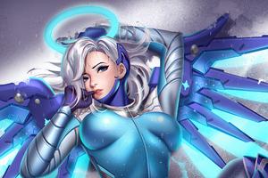 Snow Angel Mercy Overwatch 4k Wallpaper