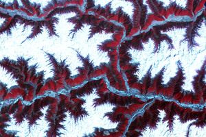 Snow Capped Peaks And Ridges Himalyan Mountains 8k Wallpaper