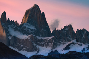 Snow Covered Mountains Evening 4k Wallpaper