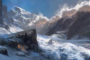 Snow Landscape Mountains Wallpaper