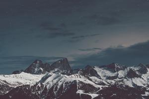 Snow Mountains Stones 4k