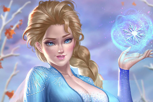 Snow Queen Elsa In Frozen 4k Wallpaper