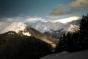 Snow Upon Mountains 4k Wallpaper
