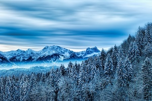 Snow Winter Nature Cloud Mountains