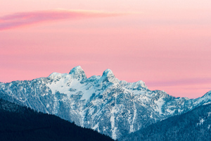 Snowy Mountains At Sunrise Canada 5k Wallpaper