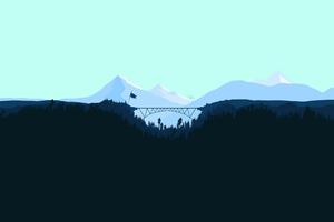 Snowy Peak Flat Mountains Minimal 4k