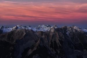 Snowy Peak Mountains Clouds 4k Wallpaper