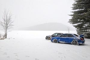 Snowy Subarus