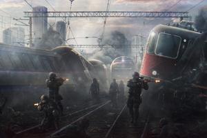 Soilders Zombie Attack Wallpaper