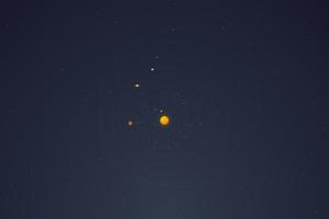 Solar System Minimal 4k Wallpaper