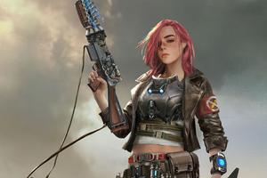 Solider Girl With Gun Scifi 4k Wallpaper