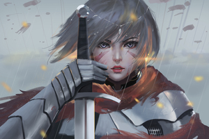 Solider Women Sword Wallpaper