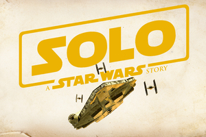 Solo A Star Wars Story Movie Logo Wallpaper