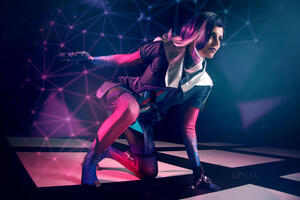 Sombra Cosplay Wallpaper