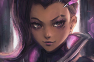 Sombra Fanart Overwatch Wallpaper