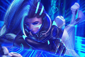 Sombra In Cyber Space Wallpaper