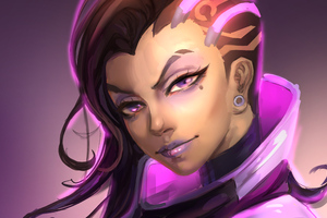 Sombra Overwatch Art Wallpaper