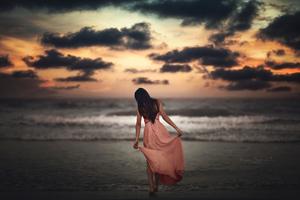 Somewhere Alone At Beach Wallpaper