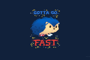 Sonic The Hedgehog Minimal Art 4k
