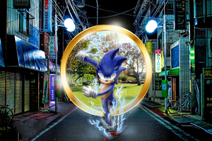 Sonic The HedgehogArt Running Wallpaper