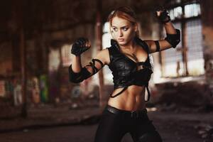 Sonya Blade Mortal Kombat Cosplay Wallpaper