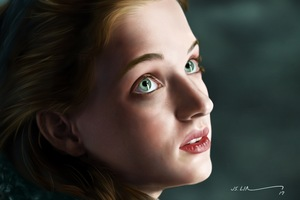 Sophie Turner 5k Portrait Fanart Wallpaper