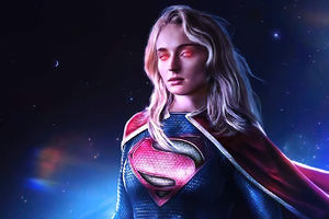 Sophie Turner As Supergirl Wallpaper