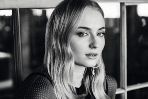 Sophie Turner Monochrome 4k 2019 Wallpaper