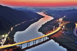 South Korea River Bridge