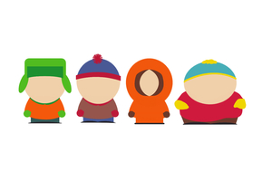 South Park Main Characters Minimalism Wallpaper