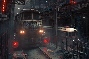Soviet Blocks Train 5k Wallpaper