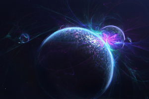 Space Collision Wallpaper