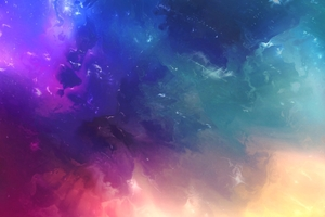 Space Colorful Abstract 4k