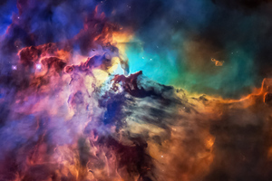 Space Colorful Art 4k Wallpaper