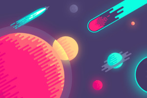 Space Colorful Minimalism