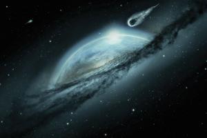 Space Fantasy Earth Meteorite Cosmos Mystical 4k Wallpaper