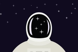 Space Man Illustration 5k