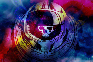 Space Marine Skull Wallpaper