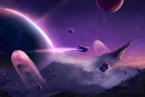 Space Meteorite 4k