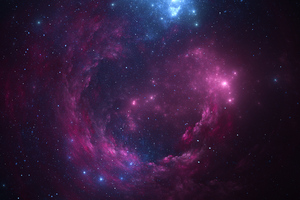 Space Pink Stars 4k Wallpaper