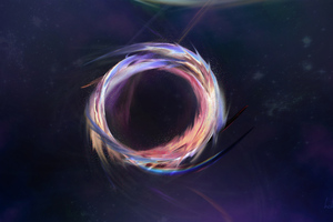 Space Purple Abstract Wallpaper