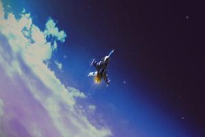 Space Shuttle Digital Art 4k Wallpaper