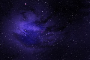 Space Stars Purple Sky
