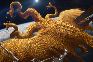 Space Station Dragon Problem 4k