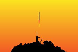 Space X Falcon Minimal 4k