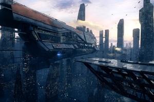 Spaceship Scifi City
