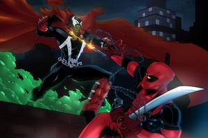 Spawn Vs Deadpool 8k Wallpaper