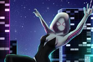 Spider Gwen City Lights 4k Wallpaper