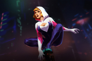 Spider Gwen Stacy Artwork Wallpaper